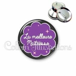 Badge 56mm La meilleure maîtresse (020NOI06)