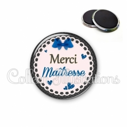 Magnet 56mm Merci maîtresse (005BLE07)