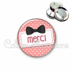 Badge 56mm Merci (003ROS03)