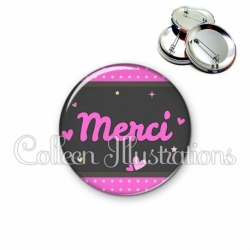 Badge 56mm Merci (019ROS02)