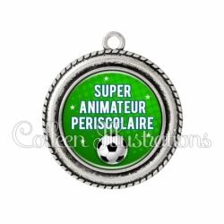 Pendentif résine Super animateur périscolaire (082VER01)