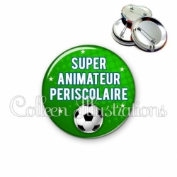 Badge 56mm Super animateur périscolaire (082VER01)