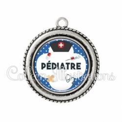 Pendentif résine Pédiatre (002BLE01)
