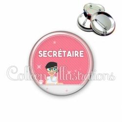Badge 56mm Secrétaire (035ROS03)