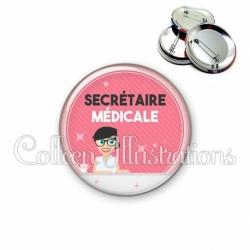 Badge 56mm Secrétaire médicale (035ROS03)