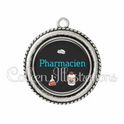 Pendentif résine Pharmacien (166GRI01)