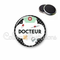 Magnet 56mm Docteur (002NOI01)