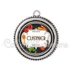 Pendentif résine Cuisinier (045NOI03)