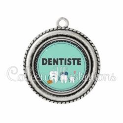 Pendentif résine Dentiste (012VER01)