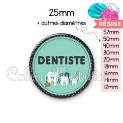 Cabochon en résine epoxy Dentiste (012VER01)