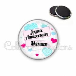 Magnet 56mm Joyeux anniversaire Maman (148BLA02)