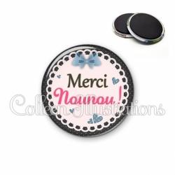Magnet 56mm Merci nounou (005BLE08)