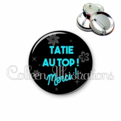 Badge 56mm Tatie au top (014NOI04)