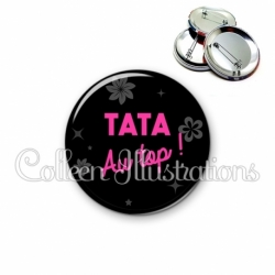 Badge 56mm Tatie au top (014NOI02)