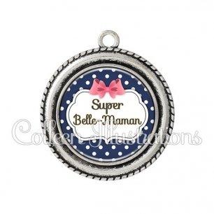 Pendentif résine Super belle-maman (006BLE06)