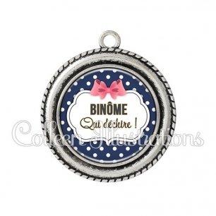 Pendentif résine Binome qui déchire (006BLE06)