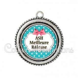 Pendentif résine ASH râleuse (006BLE07)