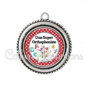 Pendentif résine Une super orthophoniste (001ROU03)