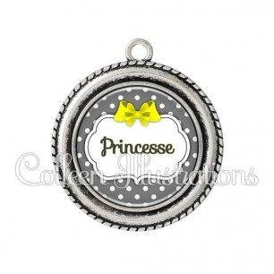 Pendentif résine Princesse (006GRI05)