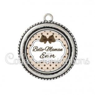 Pendentif résine Belle-maman en or (006MAR07)