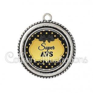 Pendentif résine Super AVS (006NOI01)