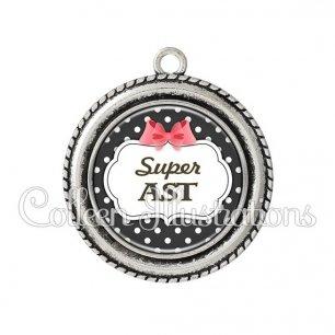 Pendentif résine Super AST (006NOI13)
