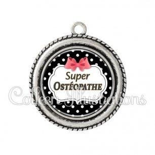 Pendentif résine Super Ostéopathe (006NOI13)