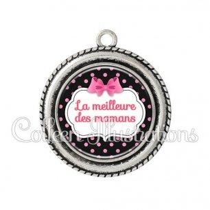 Pendentif résine Meilleure maman (006NOI21)