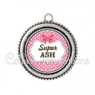 Pendentif résine Super ASH (006ROS02)