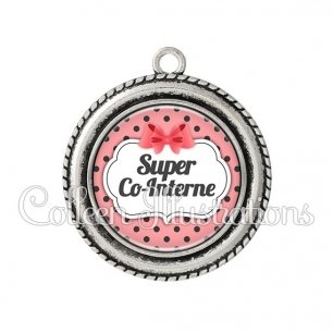 Pendentif résine Super co-interne (006ROS10)