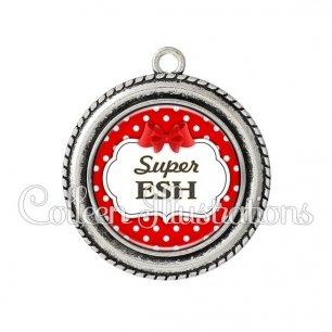 Pendentif résine Super ESH (006ROU08)