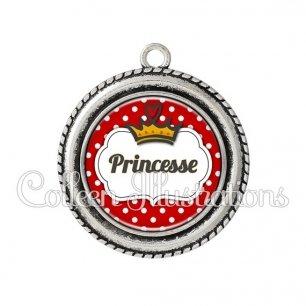 Pendentif résine Princesse (006ROU09)