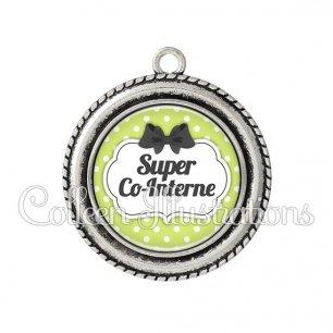 Pendentif résine Super co-interne (006VER01)