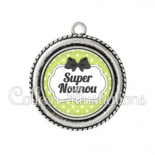 Pendentif résine Super nounou (006VER01)