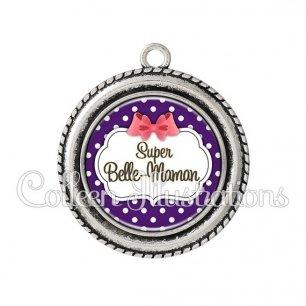 Pendentif résine Super belle-maman (006VIO09)