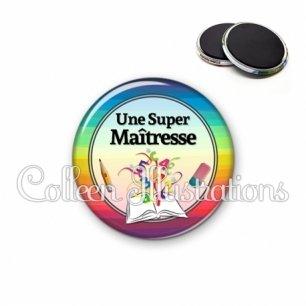 Magnet 56mm Super maîtresse (001MUL01)