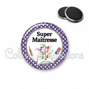 Magnet 56mm Super maîtresse (001VIO04)