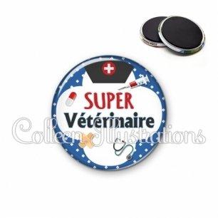Magnet 56mm Super vétérinaire (002BLE01)