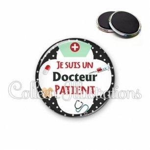 Magnet 56mm Docteur patient (002NOI01)