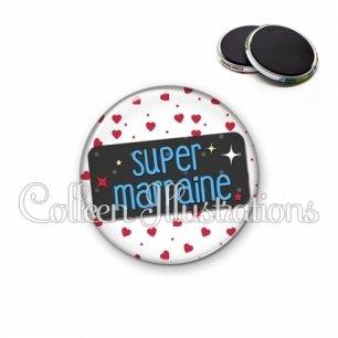 Magnet 56mm Super marraine (003BLA01)