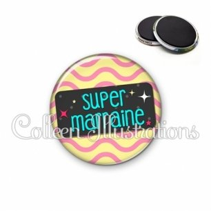 Magnet 56mm Super marraine (003MUL04)