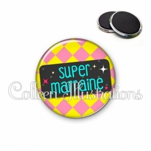 Magnet 56mm Super marraine (003MUL05)