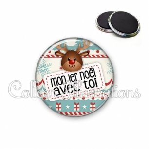 Magnet 56mm Mon 1er Noël avec toi (003MUL07)