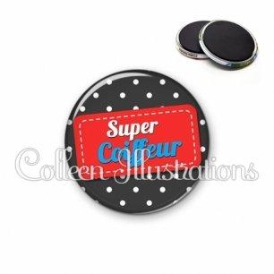 Magnet 56mm Super coiffeur (003NOI01)