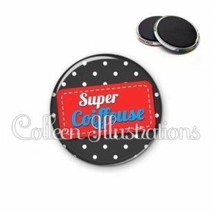 Magnet 56mm Super coiffeuse (003NOI01)