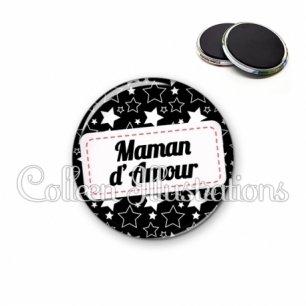 Magnet 56mm Maman d'amour (003NOI02)