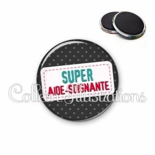 Magnet 56mm Super aide-soignante (003NOI05)