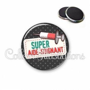 Magnet 56mm Super aide-soignant (003NOI05)