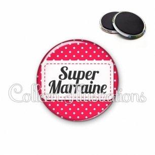 Magnet 56mm Super marraine (003ROS02)