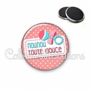 Magnet 56mm Nounou toute douce (003ROS07)